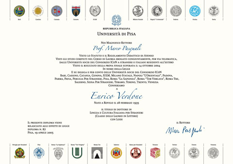 ICoN - Italian Culture on the Net: ICoN - Italian Culture on the Net - is a consortium composed of nineteen Italian universities operating in agreement with the Italian Ministry of Foreign Affairs.