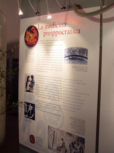 Exhibition on greek-roman medicin